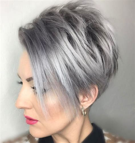 grey hairstyles for long faces 50 short black and grey ombre hairstyles 35 nona gaya