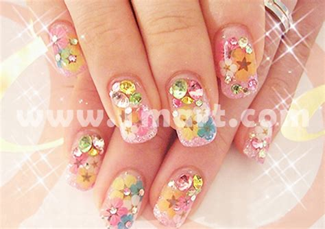 Nail Decorations by 12pcs Real Dried Flower Nail Decoration 13 Tmart