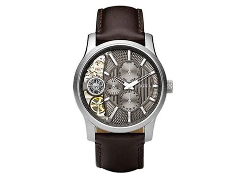 fossil me 1098 fossil s me1098 brown leather textured taupe