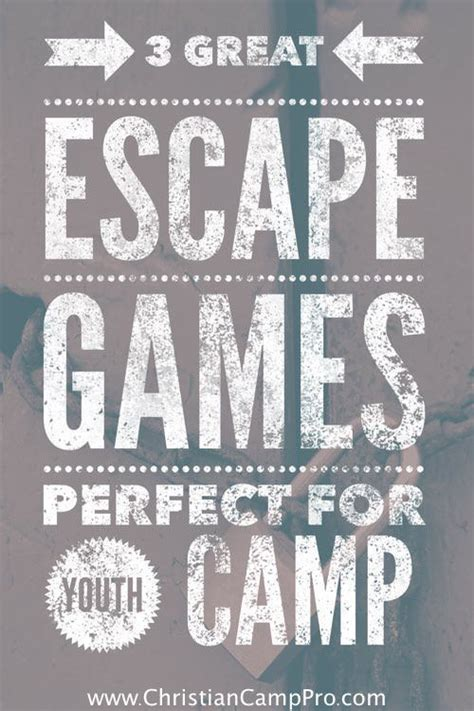 great escape games perfect  youth camp youth
