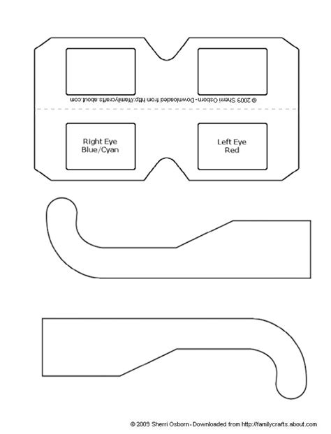 How To Make Paper 3d Glasses - how to make your own 3d glasses paper craft templates