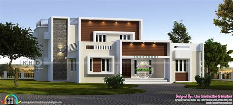 5 bedroom modern house 5 bedroom contemporary residence design kerala home