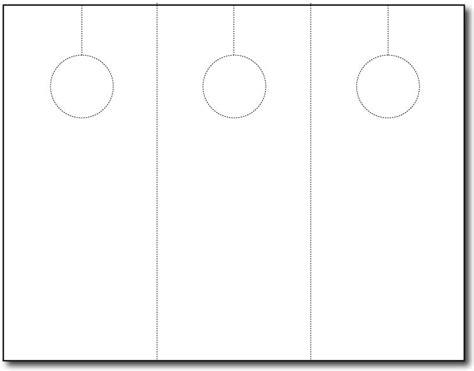 blank door hanger 3 up 250 sheets 750 door hangers