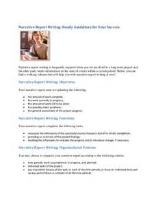 Narrative Resume Template by Sle Resume Narrative Report Introduction Exle