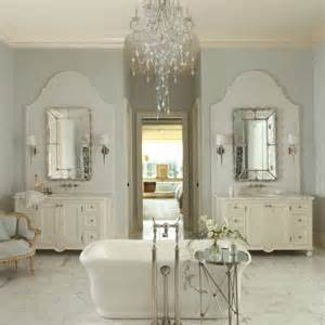 Progressive Lighting Chandelier French Country Bathroom Design Collage