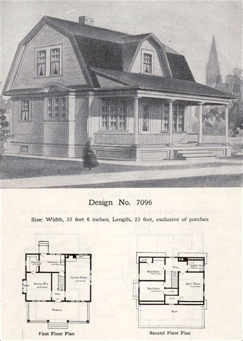 gambrel house plans vintage home plans gambrel 1986a