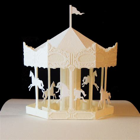 Pop Up Paper Crafts - merry go pop up paper craft this artist s work is