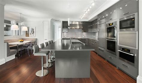 silver kitchen cabinets beautiful glossy silver kitchen cabinets completed grey