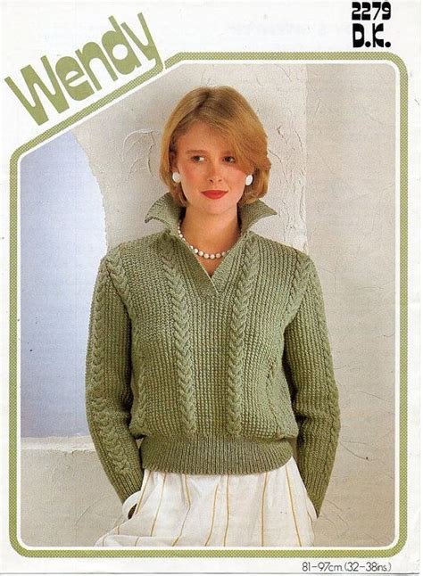 knitting pattern sweater with collar l7150 ladies knitting pattern pdf download ladies sweater