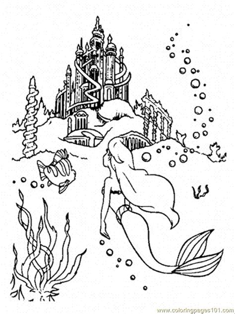 little mermaid castle coloring page coloring pages ariel is going to the castle cartoons