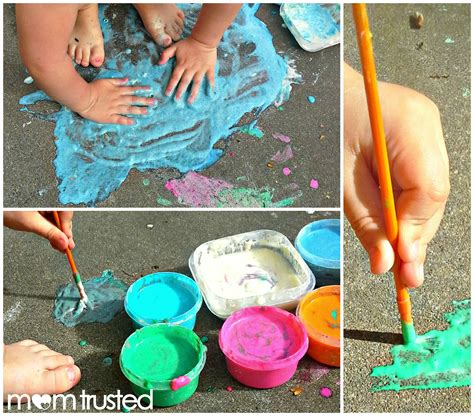 flour and water decorations sidewalk paint made from flour water food coloring sidewalk chalk
