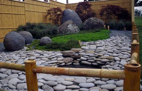 gartengestaltung mit steinen und kies  ideen fuer