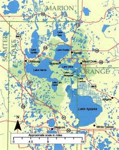 lake florida map harris chain of lakes restoration council
