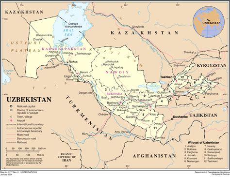 usbekistan regionen karte landkarte usbekistan politische karte weltkarte com