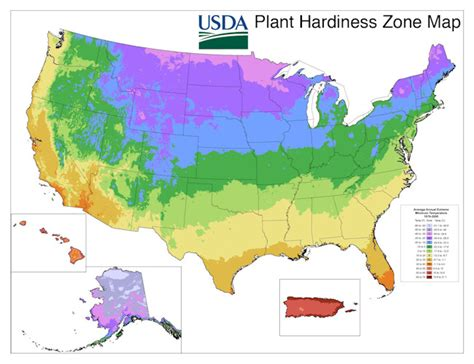 zones for gardening map usda plant hardiness zone map