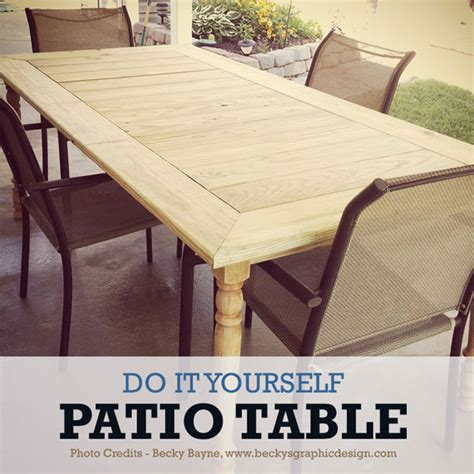 Diy Patio Table To Fit The Whole Family Patio Table Diy