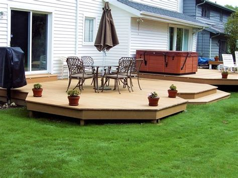 Backyard Deck Ideas Ground Level Ground Level Deck Designs Deck Deck
