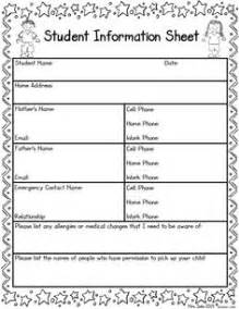 parent information sheet template best photos of elementary student profile sheet