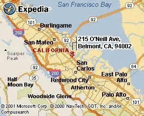 belmont california map accurate mailings located in belmont california