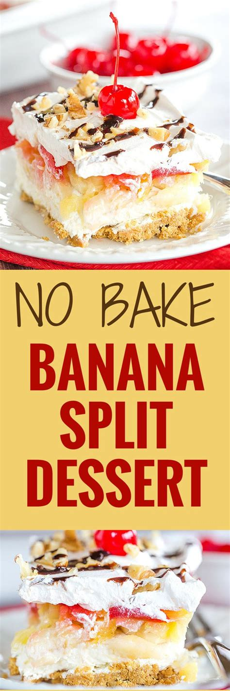 No Bake Banana Split Cake No Bake Banana Split Cake Dessert Home