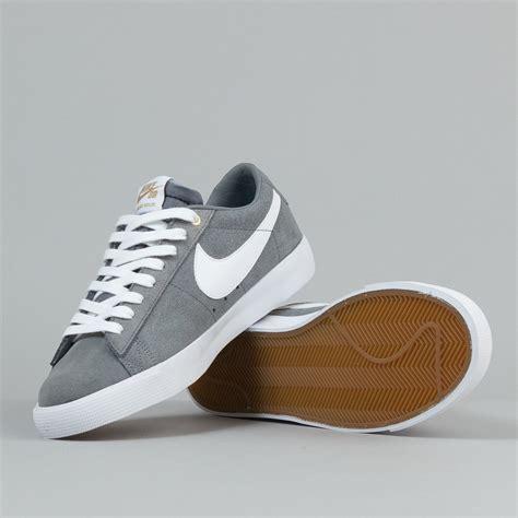 nike sb blazer low gt shoes cool grey white tide