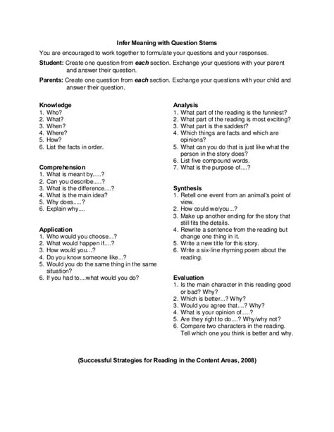 Critical Thinking Questioning Stems Mfacourses730 Web