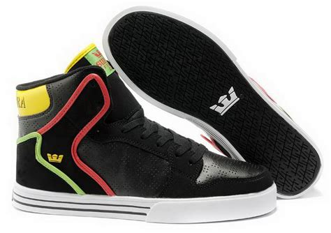 skate shoe brands vaider mens skate shoes black rasta yellow green shoes the