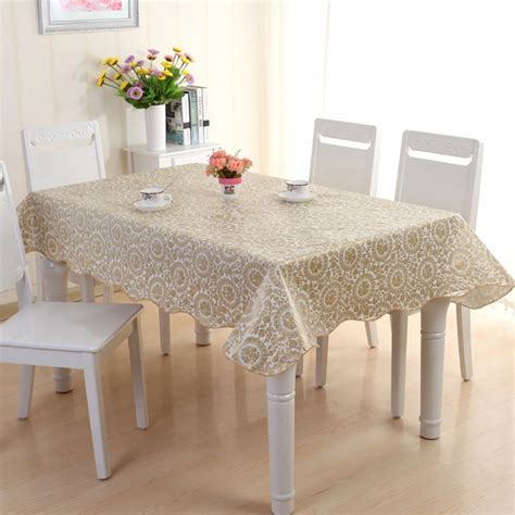 Kitchen Table Cover Waterproof Pvc Vinyl Wipe Clean Tablecloth Dining Kitchen Table Cover Protector