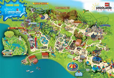 legoland map legoland florida admission ticket with shuttle service tour orlando