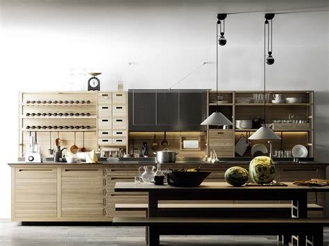 valcucine kitchen wooden fitted kitchen sinetempore by valcucine