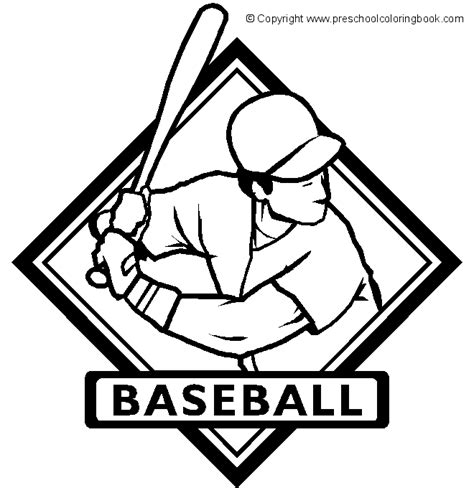 coloring pages sports logos www preschoolcoloringbook sports baseball coloring page