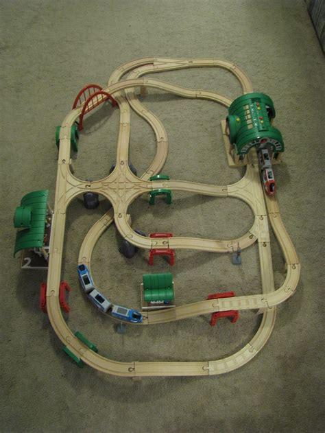 brio train track designs brio thomas wood train layout raised intersection