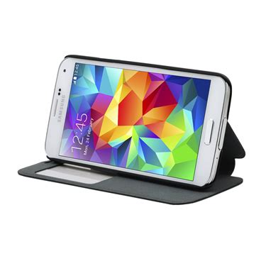Samsung Galaxy S5 Smart Cover Auto Lock Stand Leather Sleeve I9600 cirago smart view stand for galaxy s5 black