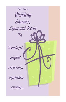 bridal shower quotes for gift cards 2 wishes for both of you greeting card bridal shower
