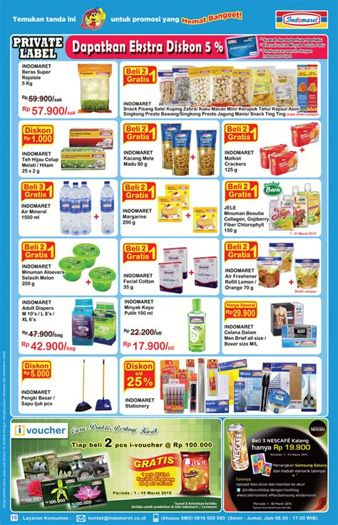 Harga Sho And Shoulders Di Indomaret by Harga Promo Indomaret 2015