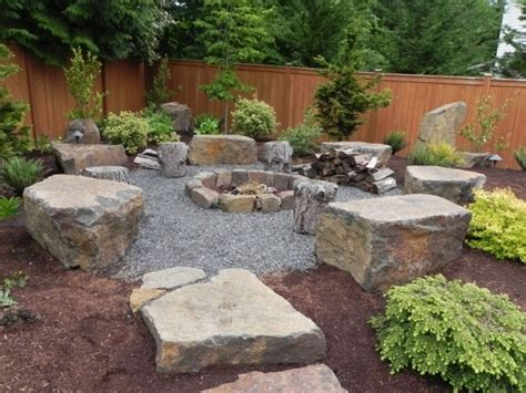 Pea Gravel Fire Pit Fire Pit Ideas Backyard Pit Landscaping Ideas
