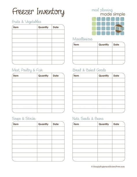 best 25 freezer inventory printable ideas on