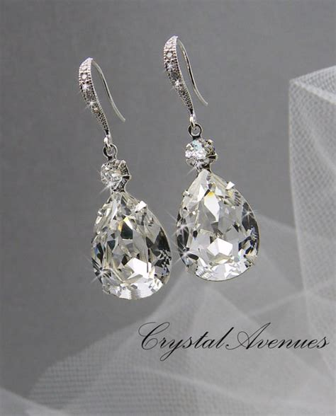 crystals jewelry bridal earrings wedding jewelry by crystalavenues