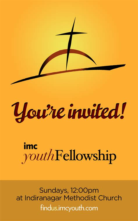 Invitation Letter For Youth Fellowship Invite Card By Timothyandrew