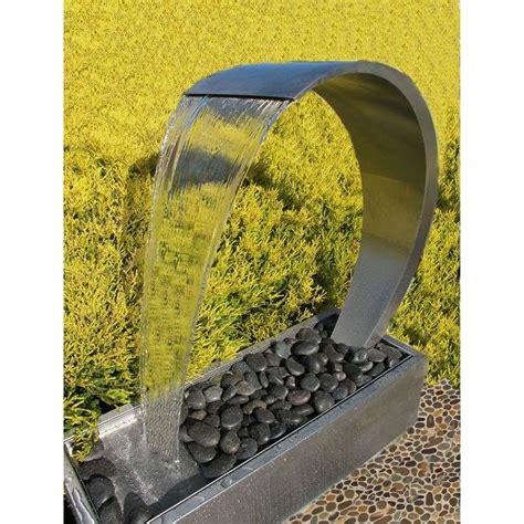 outdoor water features curved wave waterfall outdoor water feature buy home