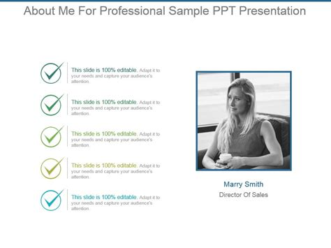 About Me For Professional Sle Ppt Presentation Powerpoint Slides Diagrams Themes For Ppt About Me Powerpoint Template