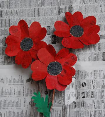Make Paper Poppies - that artist how to make paper poppies