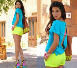 for colored clothes neon color trend how to wear neon colors fashionisers