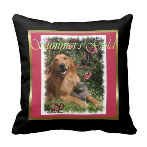golden retriever gifts for golden retriever gifts throw pillow zazzle