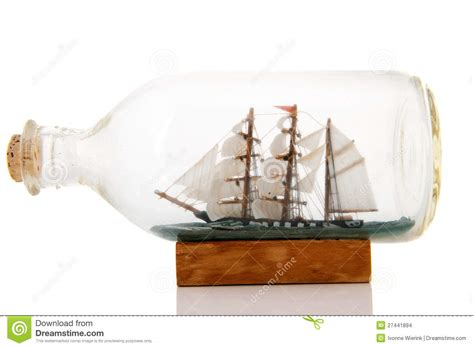 sailboat in a bottle old boat in bottle stock images image 27441894