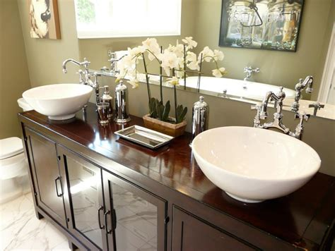 bathroom with 2 sinks bathroom sinks and vanities hgtv