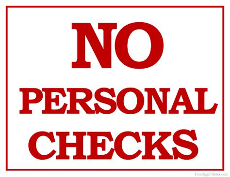 What Dont Background Check Printable No Personal Checks Sign