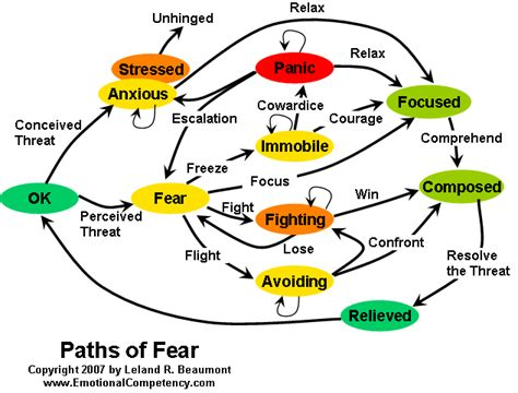 what color represents fear emotional competency fear