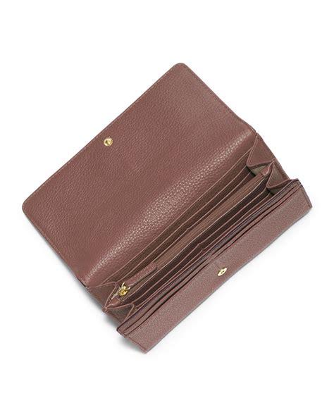 Michael Kors Fulton Wallet michael michael kors fulton carryall flap wallet in pink dusty lyst