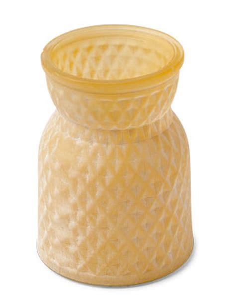 vaso di vetro vaso di vetro giallo su vegaooparty negozio di articoli